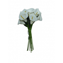 Aronskelk Mini Wit Foam 12 Stuks