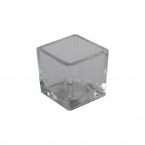 Theelichthouder 5,1x5,1x5,3cm Transparant Cube