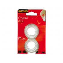 Tape 7,5M x 19mm Scotch Crystal 2 Stuks