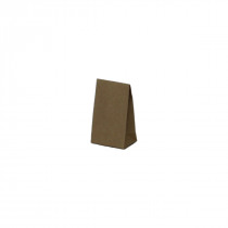 Geschenktas Papier Bruin 190G/M² 6+4x10+3,5cm Kleefstrip 10 Stuks