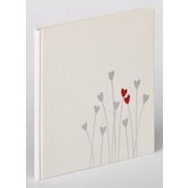 Gastenboek 23x25cm Wit Bleeding Heart