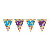 Vlaggenlijn Birthday Blocks 40 Jaar 6m