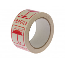 Tape Pvc 50mm x 66m Breekbaar/Fragile