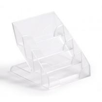 Visitekaarthoud. Durable Acryl Transparant 4 Niveaus