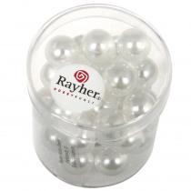 Glasparel Half Transparant Wit 10mm Diam 35 Stuks