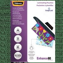 Lamineeretuis Fellowes 80µ A4 Glanzend 25 Stuks