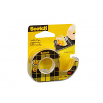 Dubbelzijdige tape 6m x 12mm Scotch Met Dispenser