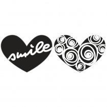 Label Harten Smile / Cirkels 2 Stuks