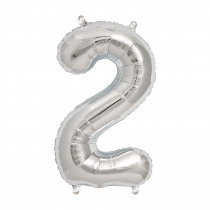 Ballon Folie 41cm Zilver '2'