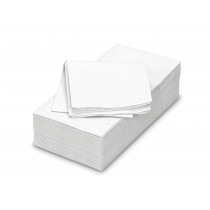 FIESTA dinner servet uni papier rechthoekig gevouwen 40x40 cm 50 stuks