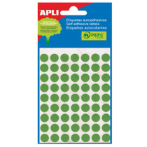 Etiketten Pochet Apli Groen 13Mm Diam (175St) 5Vellen