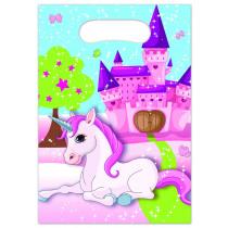 Verjaardagszakjes Unicorn 6 Stuks