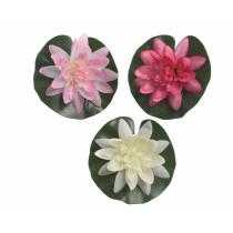 Lotus Zijde Blad Drijvend 4cm 13cm Diameter Wit, Fuchsia Of Roze