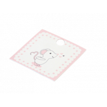 Naamkaartje 3,5x3,5cm Wit Muisje 40 Stuks