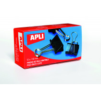 Clip Fold Back Apli Zwart 32Mm 12Stuks