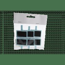 Clip Met Bordje 3x4,5cm 4,5x4,5cm Turquoise 6 Stuks