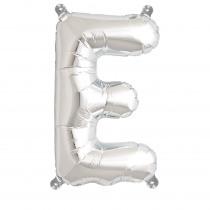Ballon Folie 41cm Zilver 'E'