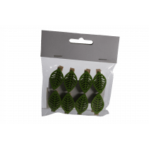 Clip Met Blad 3,5cm Groen 8 Stuks