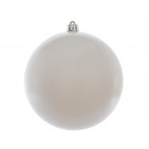 Kerstbal Plastiek Winterwit 14cm Diameter
