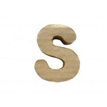 Letter S 7x8cm Papier Maché