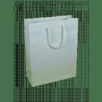 Draagtas Papier Wit 190G/M² 28+12x36cm Glanzend