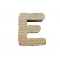 Letter E 7x8cm Papier Maché