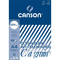 Blok 20 Vellen Canson Wit 224g/m² A4 Gekorreld