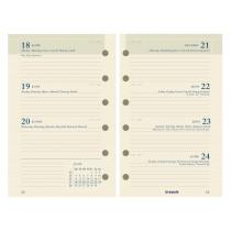 Brepols Agenda 125x80mm 6-Talig 7D/2P Vulling Calendarium Ivoor Brefax