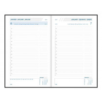Agenda 6T 1D/P Daily 14X21Cm Aurora Folio Balacron Zw Bl Ro