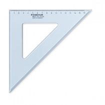 Tekendriehoek Plastic Staedtler 26cm 45 Graden