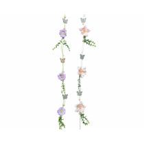 Guirlande Fleurs Branches Papillons 110cm