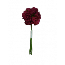 Roosjes Mini 2cm Fuchsia Foam 12 Stuks