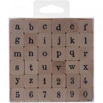 Stempel Alfabet Hout Kleine Letter