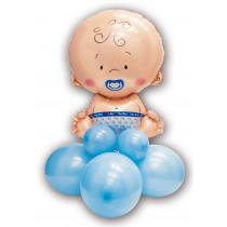 Knutselkit Ballonnen 90cm Blauw Baby Jongen