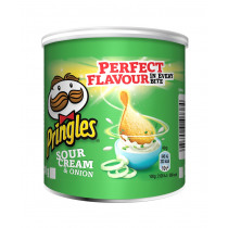 Pringles Chips Sour Cream & Onion Groen 40g