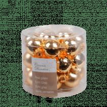 Kerstbal Glas Glans En Mat Lichtgoud 2,5cm Diameter 24 Stuks