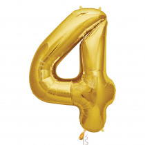 Ballon Folie 86cm Goud '4'