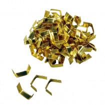 Zaksluiting U-clip 45mm Goud Papier 100 Stuks