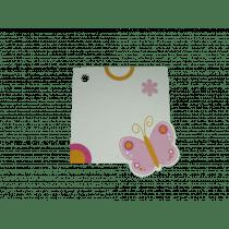 Naamkaartje 4X4Cm Vlinder Roze Q 50 Stuks