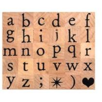 Houten Stempel Alfabet Kleine Letter