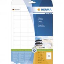 Etiketten 38,1x21,2mm Herma A4 25 Vellen 1625 Stuks