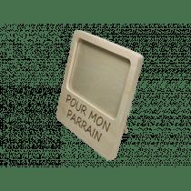 Fotokader Hout 17x17cm Pour Mon Parrain