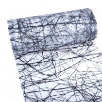 Dekoweb 5mx30cm Zwart-Wit