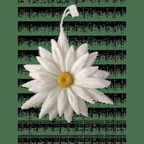 Pendentif Deco Fleur Blanc 43cm Diamètre Papier