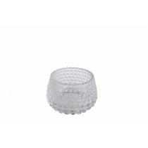 Theelichthouder Glas 6cm 8,5cm Diameter Met Noppen