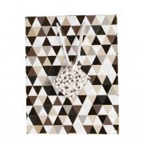 Geschenkzak 17,8x9,8x22,9cm Goud/Zwart Triangle
