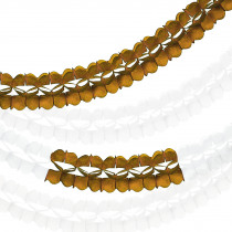 Harmonicaslingers 3,6m 10cm Diameter 2x Wit - 1x Wit/Goud - 1x Goud 4 Stuks