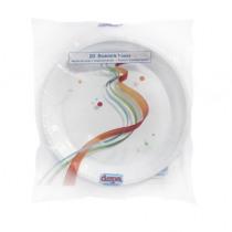 Bord Plastic Wit 22cm Diameter Plastiek Retail 20 Stuks