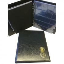 Verzamelalbum Muntenalbum Zwart + 10 Pochetten + 10 Bladzijden