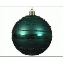 Kerstbal Plastiek Emerald 8cm Diameter Glitters